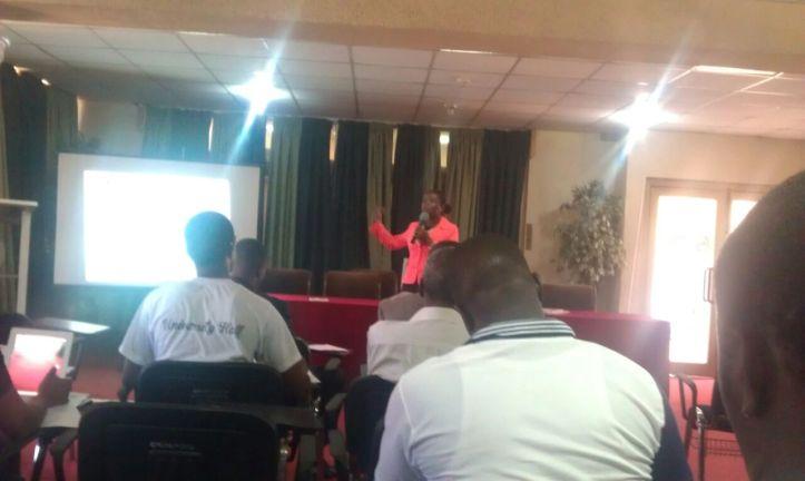 Social Media Marketing training in Ghana, Facilitating a workshop in Ghana