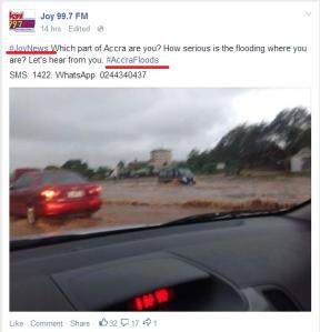 #AccraFloods