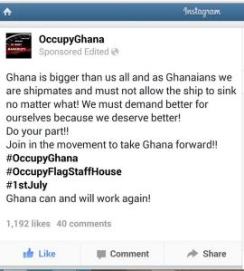 #occupyghana