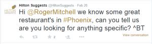 Hilton suggests