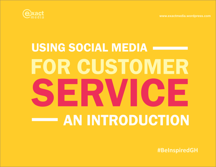 using social media for customr service - an introduction