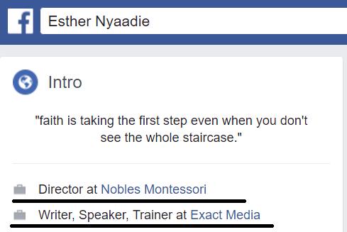 Esther Nyaadie Social Media Consultant in Ghana