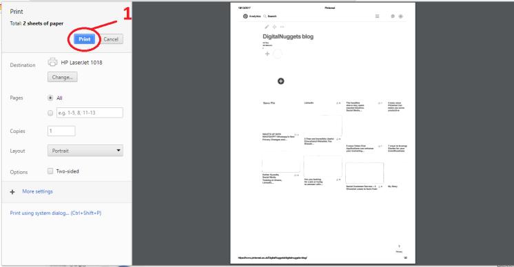 Convert a Pinterest board to PDF.